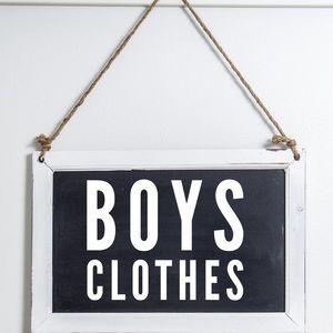 Boys Closet Cleanout Sign